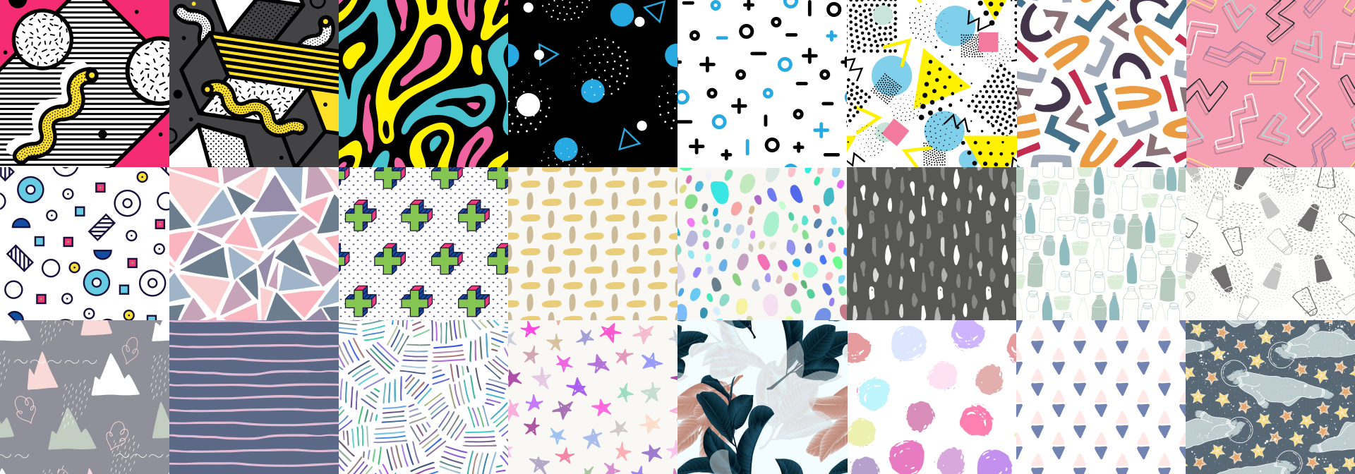 Various vector pattern backgrounds that can be used to replace single color backgrounds in videos