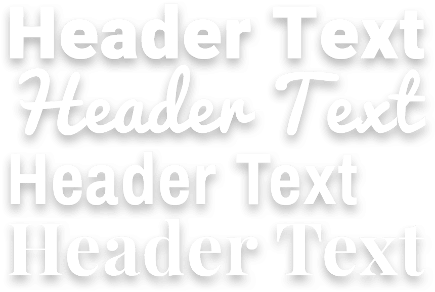 Typefaces and fonts available on slideshow maker
